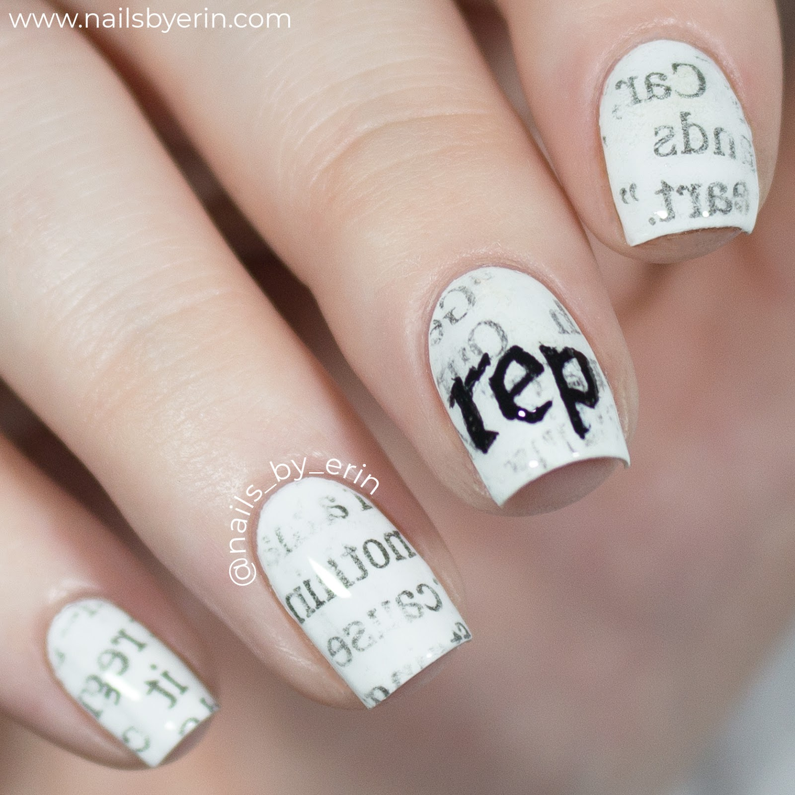 Her Al Artwork Reminded Me So Much Of Newspaper I Decided The Easiest Way To Recreate This Look Would Be With Nail Art