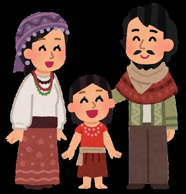 ジプシーの家族のイラスト
