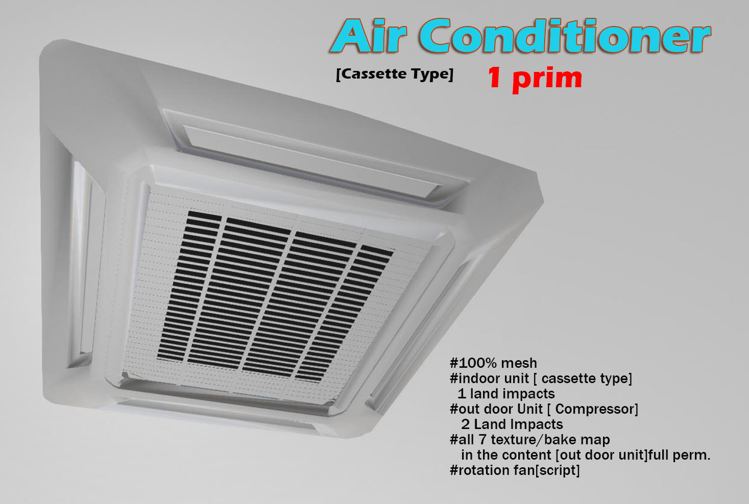New Item For This Month Air Conditioner Ceiling Type