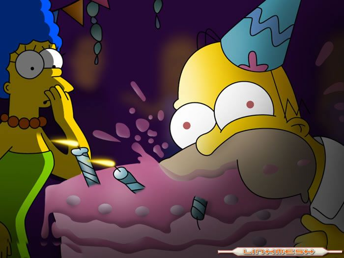 Hommer Simpson Birthday Cake