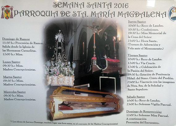 Horarios Semana Santa Torrelaguna 2016