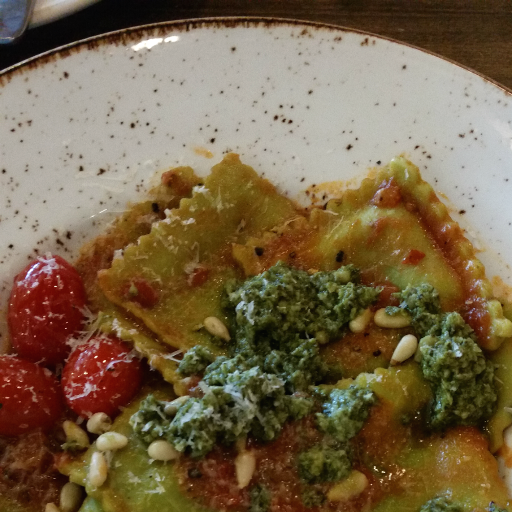 Zizzi review: pesto tortelloni