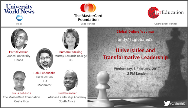 Role of higher education in shaping leaders for social transformation-DrEducation-UniversityWorldNews-Mastercard online global discussion
