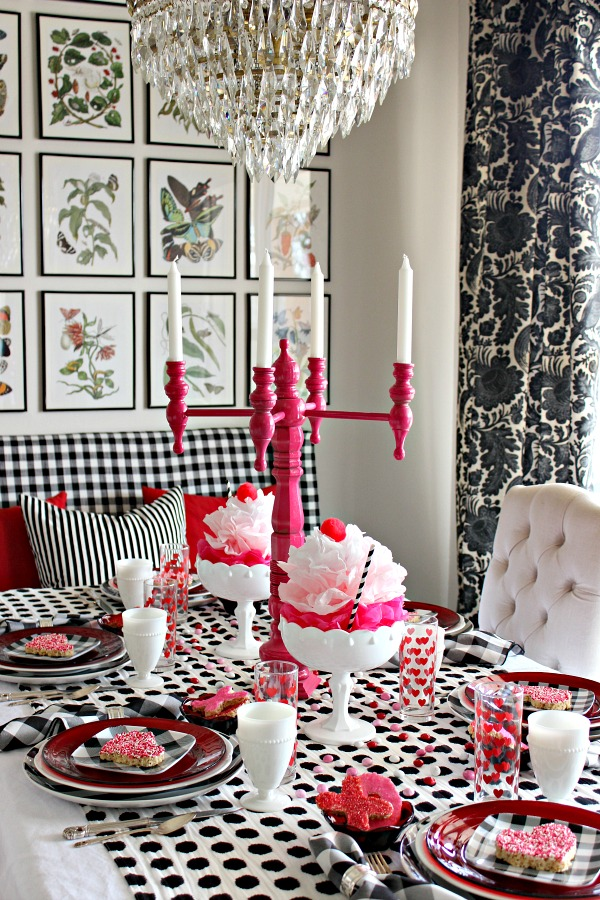 Valentine Hutch Decor