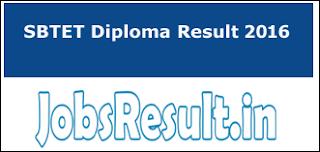 SBTET Diploma Result 2016
