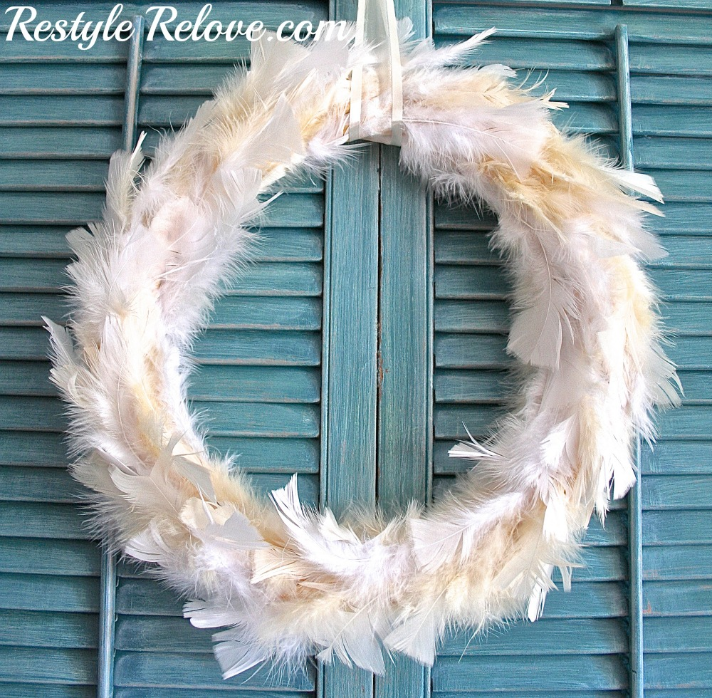 Christmas Decorating And A Feather Wreath
