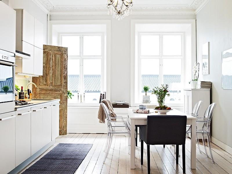 Twc decoration with nordic style - Cocinas color blanco roto ...