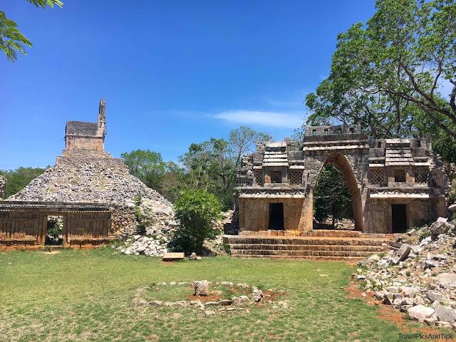 Arche monumentale, pyramide, mirador, Labna, Ruta Puuc