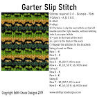 Garter Slip Knitting Stitch