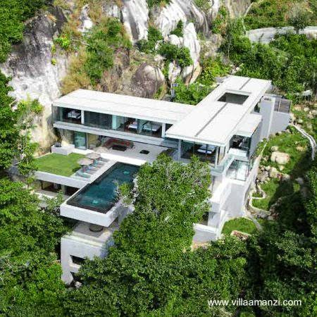 Villa Amanzi estructura volada en Tailandia