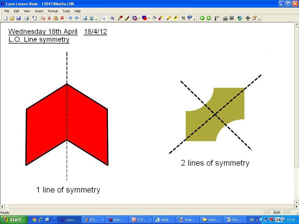 Mr Howe S Class Maths Line Symmetry