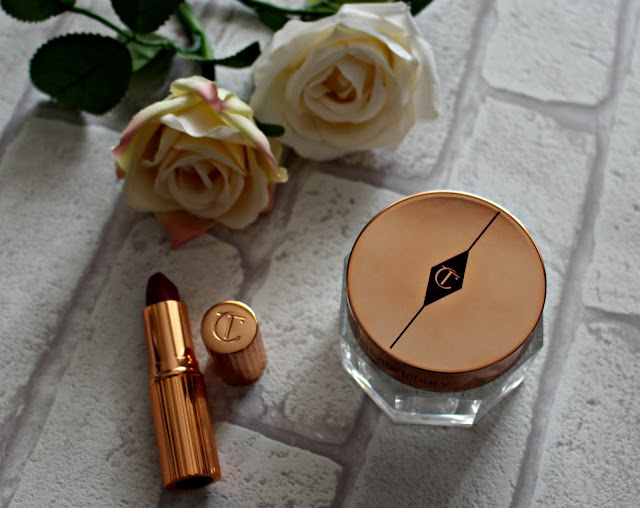 Charlotte Tilbury magic cream and matte revolution lipstick in bond girl