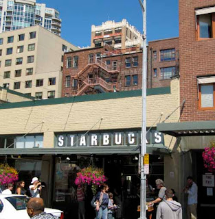 #1 1st First Starbucks Pike's Place Market Seattle Washington USA