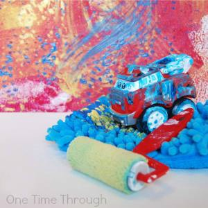 painting ideas for kids - painting with cars