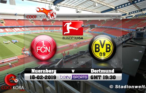 مشاهدة مباراة نورنبرغ وبروسيا دورتموند اليوم 18-2-2019 في الدوري الألماني
