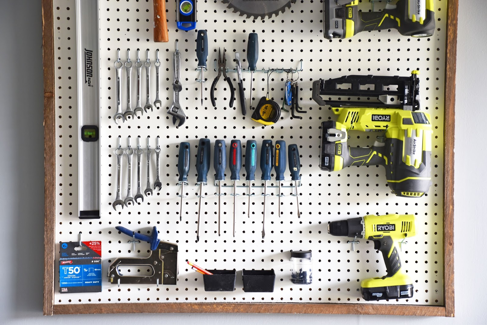 peg how wall for lifestorage board diy to with garage blog middle storage a mounted organize life organization pegboard tools