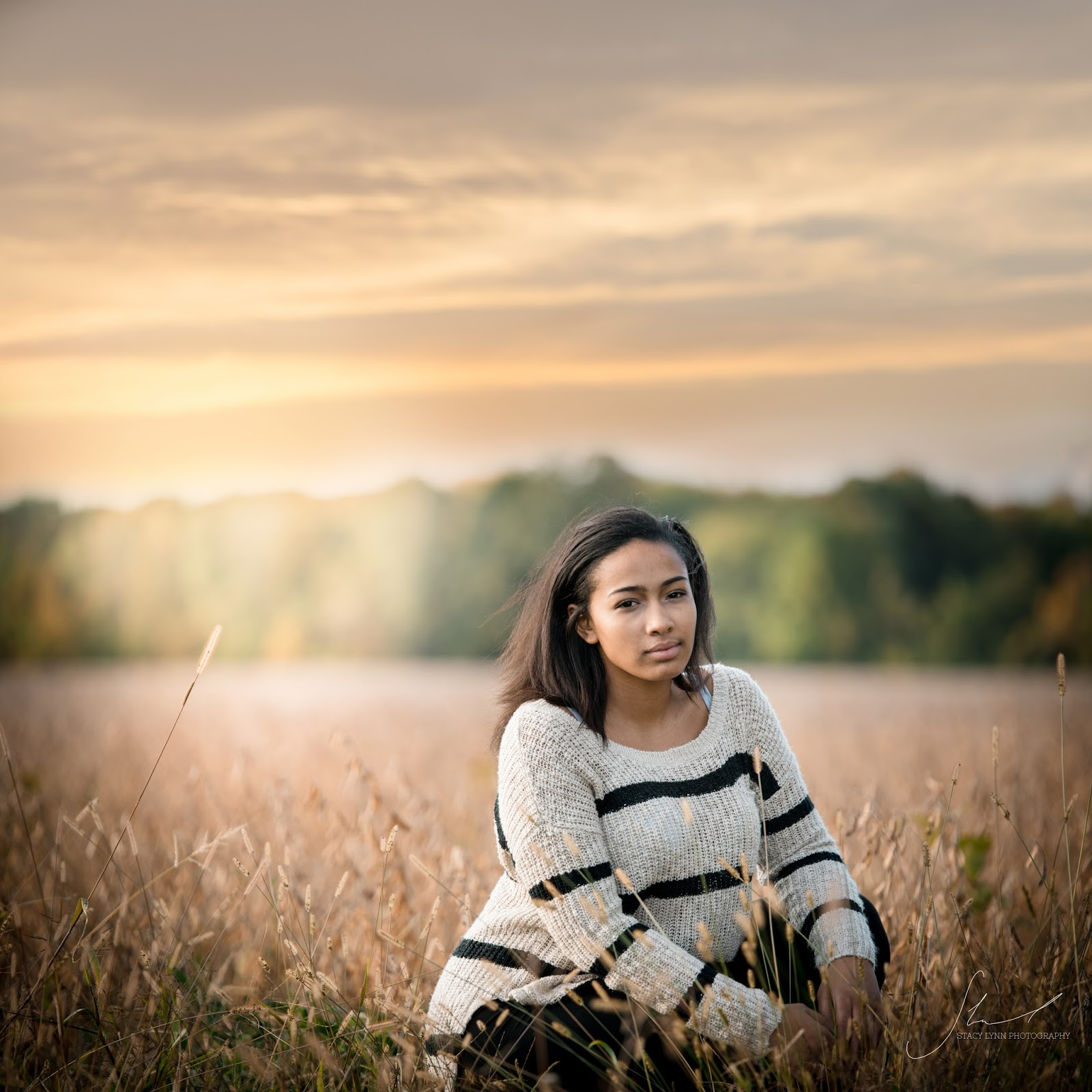 senior photography phelps ny sunset wheat field