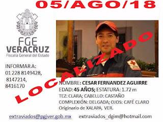 Ya fue localizado César Fernández Aguirre en puerto de Veracruz