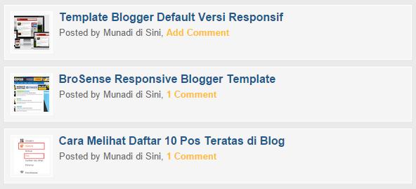 Tampilan Beranda Versi Seluler Tanpa Deskripsi Posting