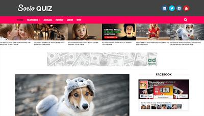 Socio Viral & Buzz шаблон для blogger