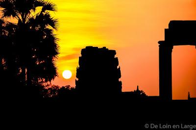 Angkor Vat - Coucher de soleil - Cambodge