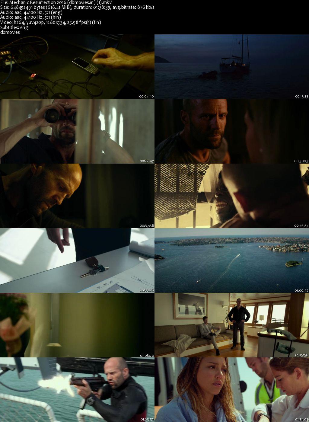 screen shot Mechanic Resurrection 2016 Full Movie Download Dual Audio 720p