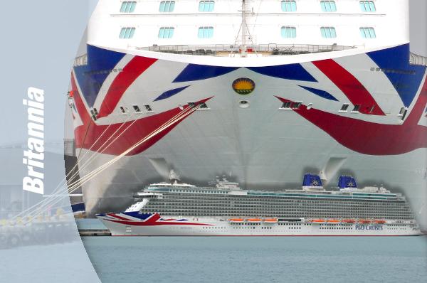 """BRITANNIA - Alicante, una de las escalas elegidas por la naviera P & O para su nuevo buque insignia """"BRITANNIA"""""""