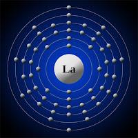 Lantan atomu ve elektronları