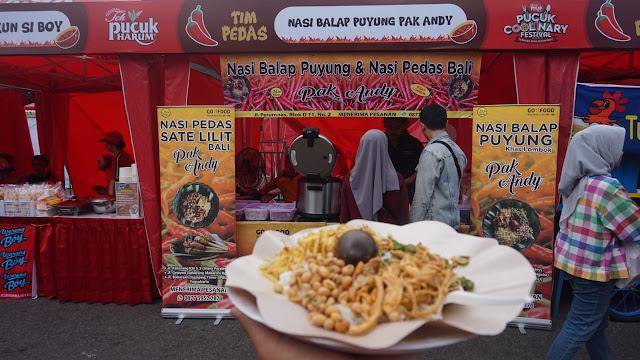 Nasi Balap Puyung Pak Andi di Pucuk Coolinary Festival Jogja