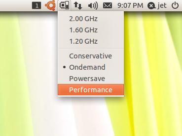 How To Display and Change CPU Frequency On Ubuntu 11 04 (Unity)