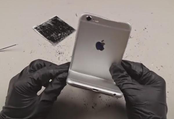 İPhone 6 Plus Mengene ile Sıkıştırma Testi