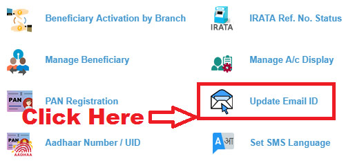 how to change email id in sbi online