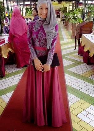 model kebaya brokat muslim simpel