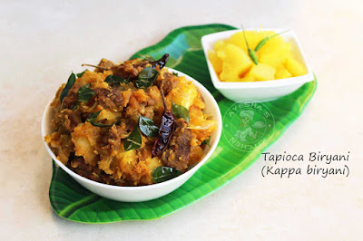 Kappa biryani tapioca biryani kerala recipes ayeshas kitchen kappa erachi