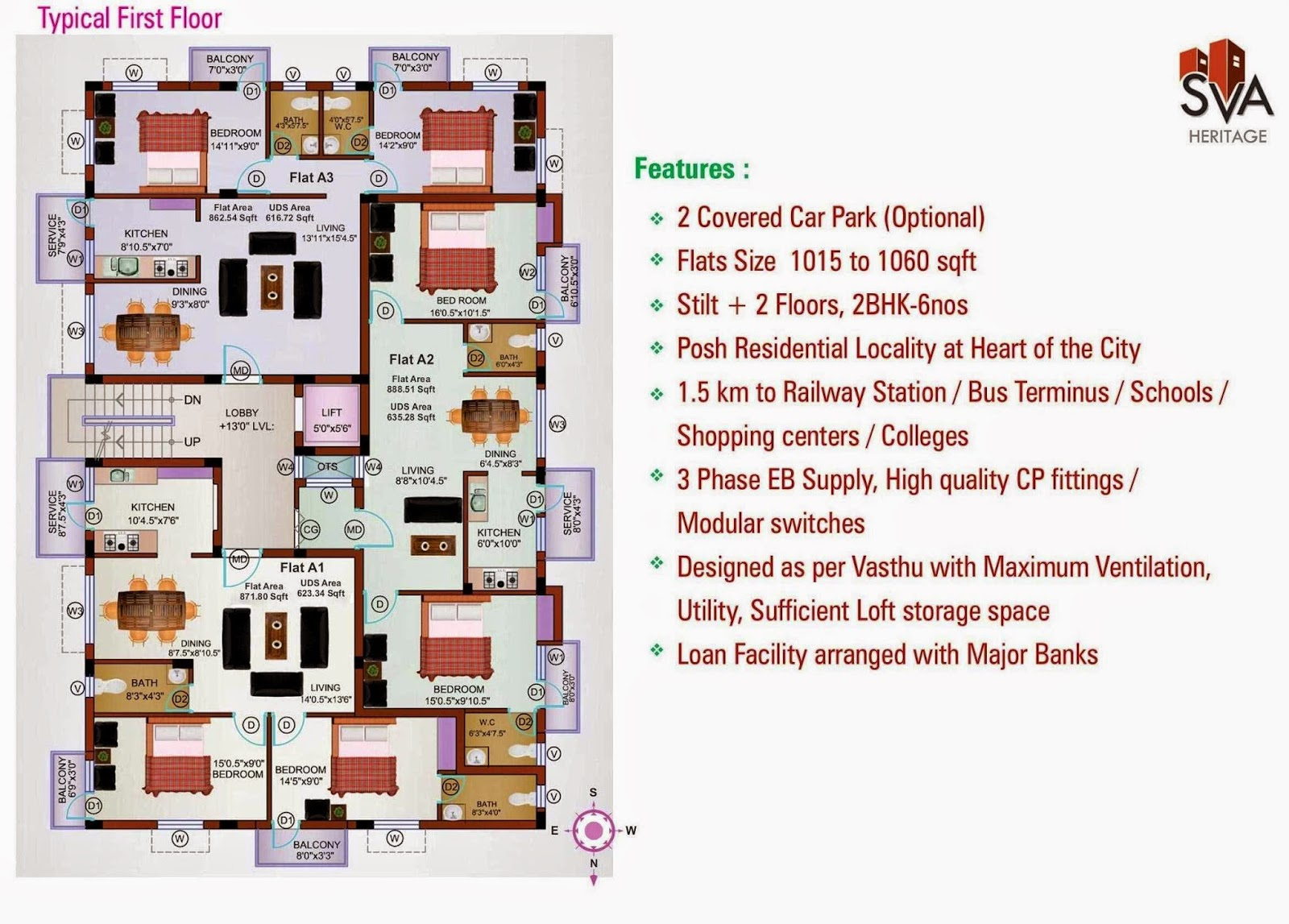 Sv A Heritage Homes Delux 2 Bhk Flats At West Tambaram
