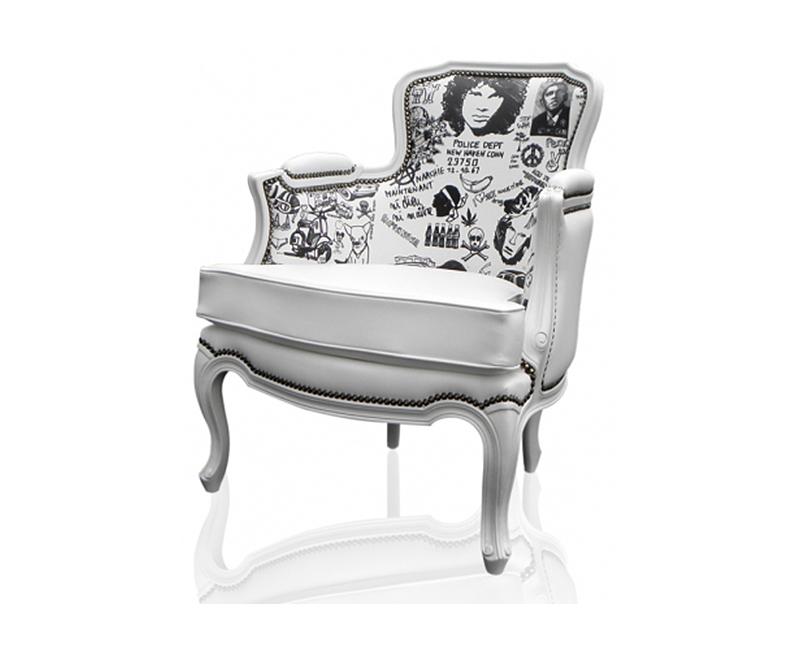 Jim Morrison printed chair