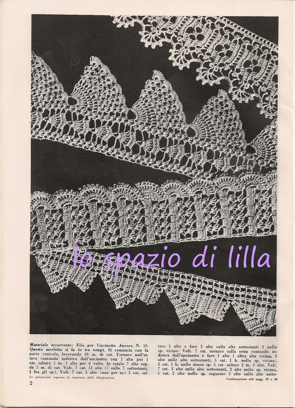 Lo Spazio Di Lilla Bordure All Uncinetto Vintage Schemi