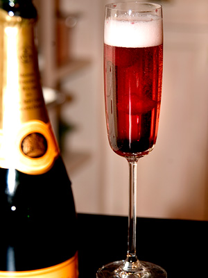 champagne kir