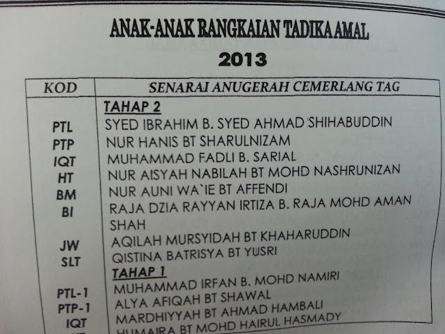 Anugerah Cemerlang Tadika Amal Gombak 2013