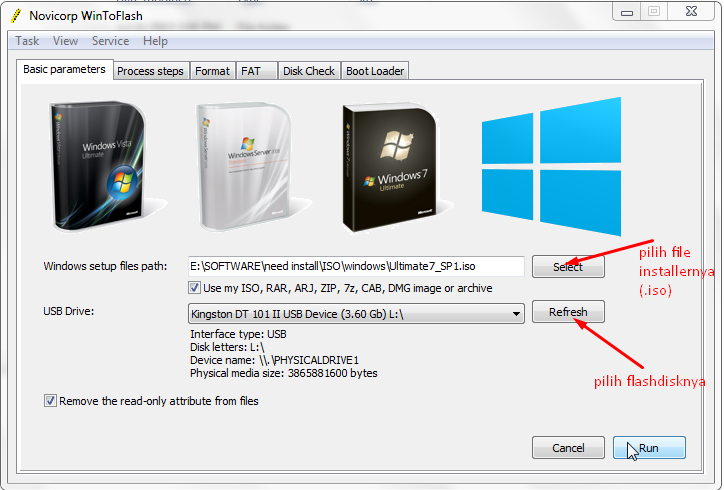 Cara Membuat File Installer Windows XP/7/8 ke Flashdisk