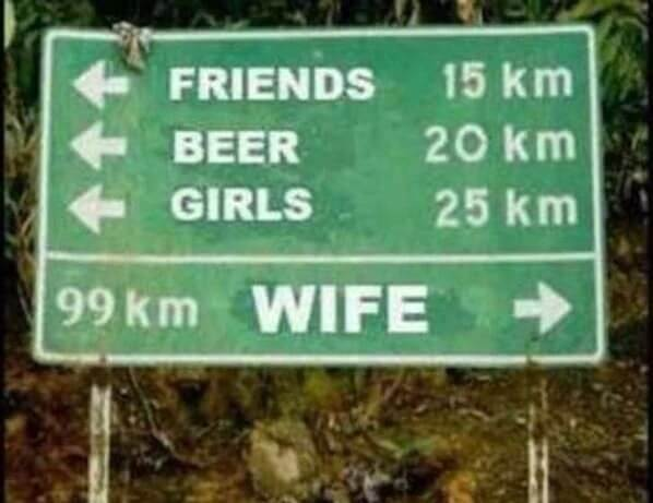 16 Funny Pictures Of The Startling Differences Between Single And Married Life - Earlier the distance to the left was not far, but once you go right, it becomes far apart!