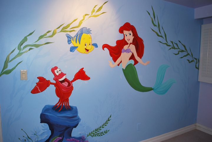 Wall Decoration In Play School : Wall painting for playschool