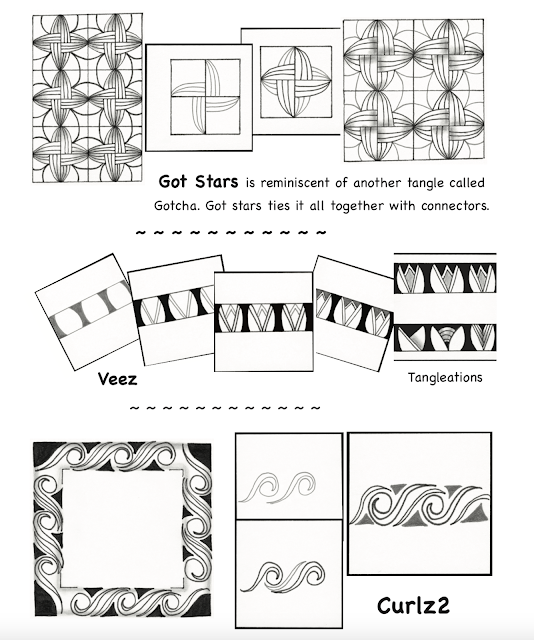 some tangle patterns that you will find inside of Tangle Starts Planner 2018