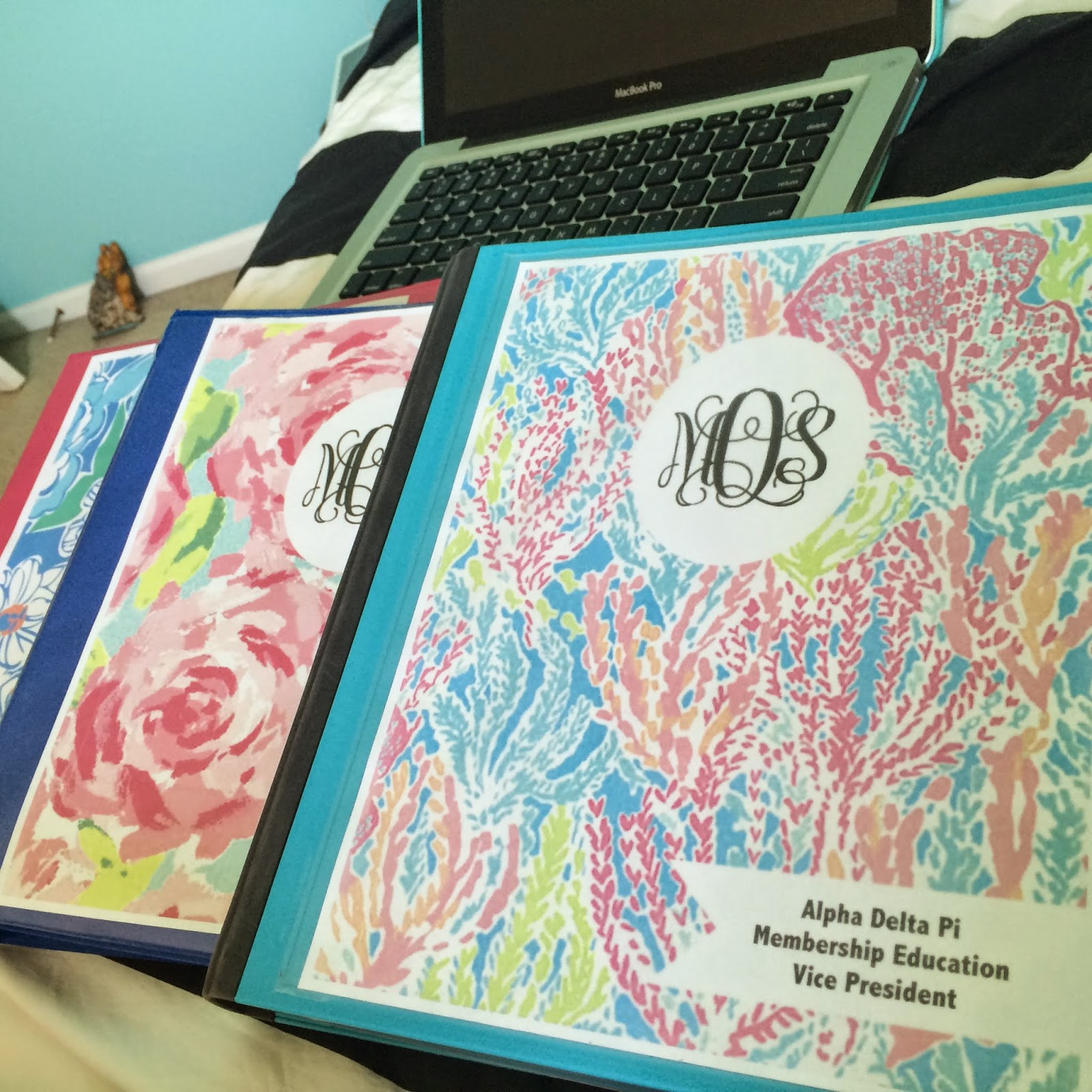 The Shore Life According To M: Monogrammed Lilly Binder Covers