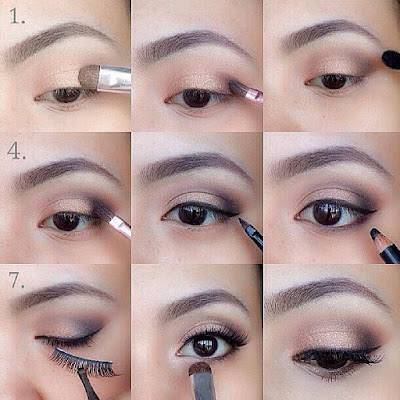 30 tutorial make up mata natural coklat sehari hari. Black Bedroom Furniture Sets. Home Design Ideas