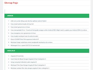 Membuat sitemap sederhana ala kang-cahya di blogger