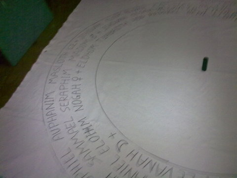 My Goetia Circle - Writing words
