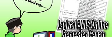 Jadwal EMIS Online Semester Genap