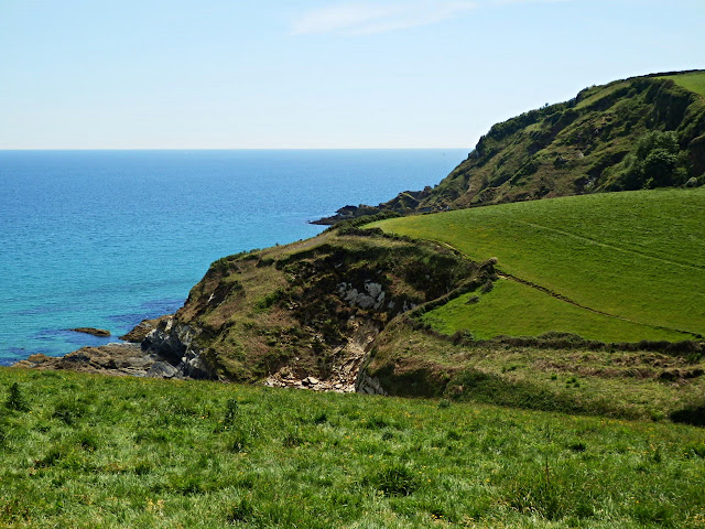 Cliffs at Pentewan, Cornwall