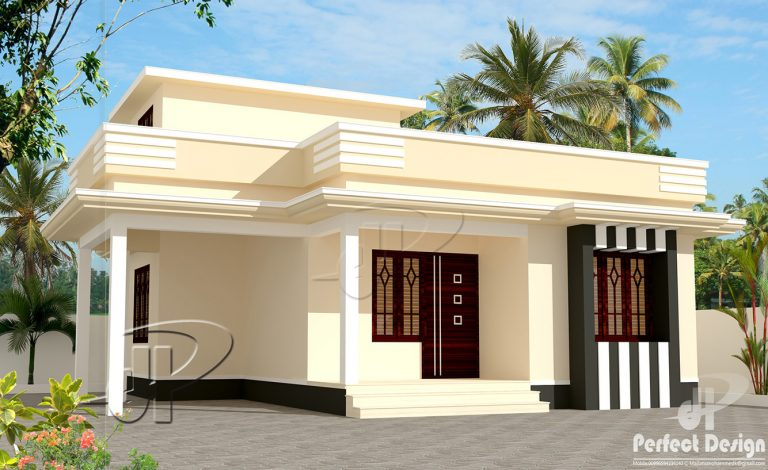 1 bedroom small house plan in 650 sqft with future for House plans designed for future expansion